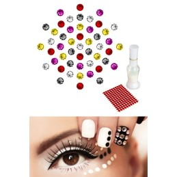 50 Cristaux Multicolore Swarovski Kit Complet