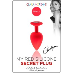My Red Silicone Secret Plug Small