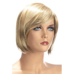 Perruque Berangere Courte Frange Blond Meches
