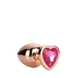 Gleaming Love Coeur Bijou Plug Gold Taille M