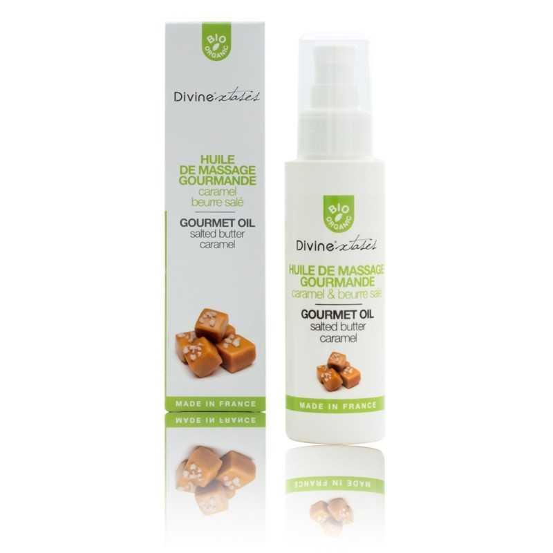 Huile Sèche Massage Bio Léchable Caramel Beurre Salé