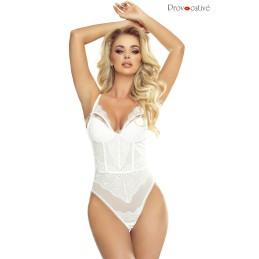 Passion Glamour Body Dentelle Blanche Bonnets Push Up